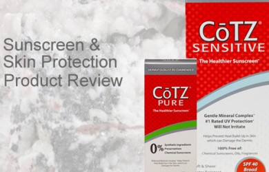 rosacea skin care sunscreen and skin protection product review of CoTZ mineral based sunscreen for rosacea and sensitive skin
