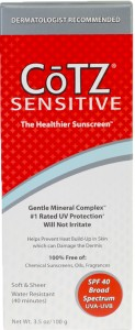 Rosacea skin care sunblock and skin protection barrier product review CoTZ sunscreen for sensitive skin