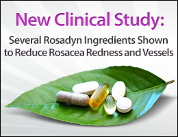 natural rosacea treatment clinical study review of bioflavanoids effectiveness in treating rosacea symptoms compared to tradational medications