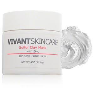 Rosacea skin care redness with acne Vavant Sulfur Zinc Mask