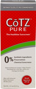 Rosacea skin care sunscreen and skin protection product review CoTZ Sunscreen for rosacea and sensitive skins