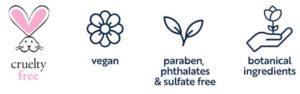 Manuka Honey Eye Cream for sensitive skin vegan, paraben phthalets and sulfate free no animal testing logos